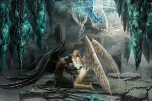 angel fantasy art fantasy girl wings