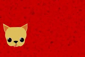 animals red background artwork dog