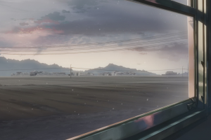 anime 5 centimeters per second power lines landscape