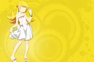 anime anime girls blonde long hair monogatari series oshino shinobu