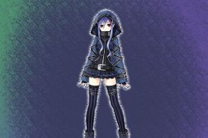 anime anime girls fairy fencer f red eyes
