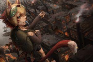 anime anime girls fox girl