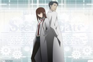 anime anime girls makise kurisu steins;gate okabe rintarou