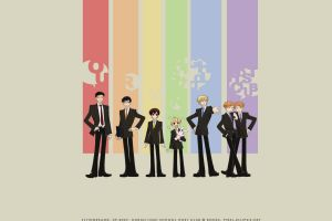 anime boys anime rainbows