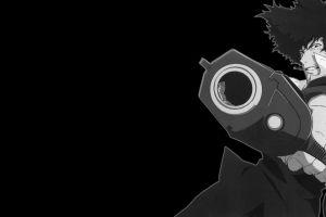 anime boys gun spike spiegel cowboy bebop monochrome