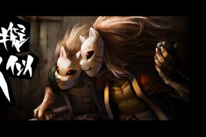 anime boys mask twins