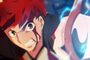 anime boys shirou emiya anime fate/stay night unlimited blade works