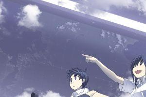anime boys sky anime girls