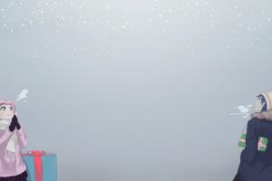 anime christmas anime girls presents osu pippi
