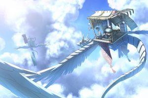 anime creature sky clouds fantasy art miniatures