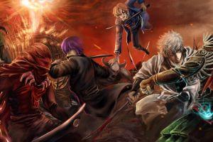 anime gintama anime boys battle