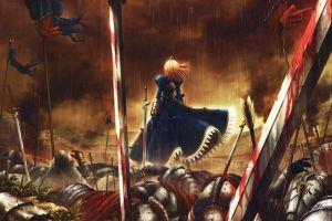 anime girls anime saber fate series