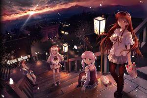 anime girls anime takagi sana thigh-highs michioka airi pantyhose shoujo shin'iki ~ shoujo tengoku