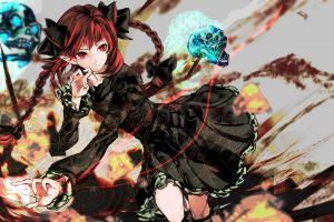 anime girls anime touhou kaenbyou rin