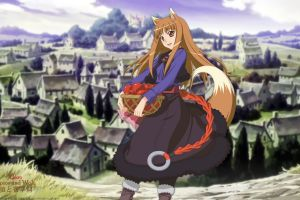anime girls anime wolf girls holo okamimimi spice and wolf