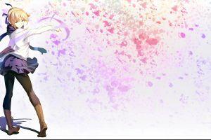 anime girls fate series saber blonde