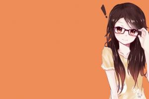 anime girls glasses smiling anime