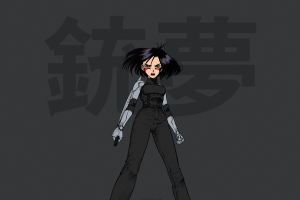 anime girls gunnm weapon battle angel alita anime alita cyborg short hair warrior yukito kishiro manga gally