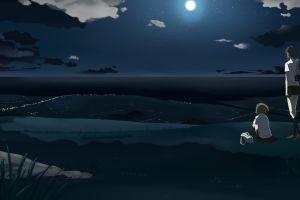 anime girls landscape sky night night sky