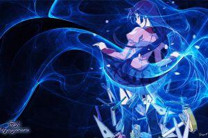 anime girls monogatari series anime artwork senjougahara hitagi