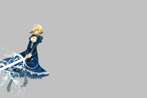 anime girls saber anime simple background fate series