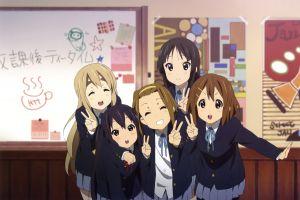 anime girls tainaka ritsu k-on! nakano azusa akiyama mio