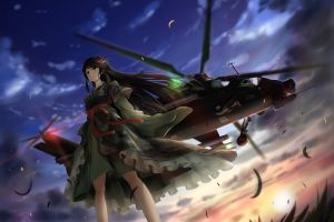 anime girls tc1995 helicopters military