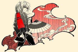 anime girls white background anime japanese umbrella gintama