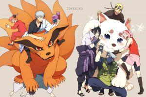 anime haruno sakura manga uzumaki naruto kyuubi uchiha sasuke crossover gintama hatake kakashi