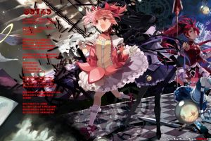 anime mahou shoujo madoka magica kaname madoka miki sayaka akemi homura tomoe mami sakura kyouko kyuubey