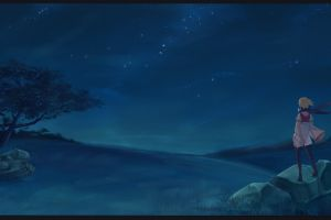anime night stars night sky sky