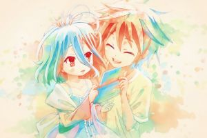anime no game no life shiro (no game no life) sora (no game no life)