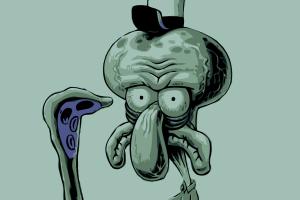 anime spongebob squarepants squidward tentacles