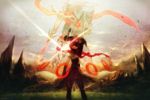 anime sword original characters anime girls fantasy girl