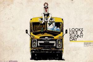 anime vehicle buses anime girls