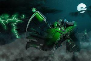 anime warhammer 40,000 necrons wh40k robot green