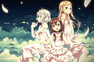 anime white dress anime girls