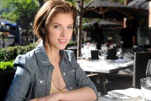 anna kendrick auburn hair actress women celebrity women outdoors