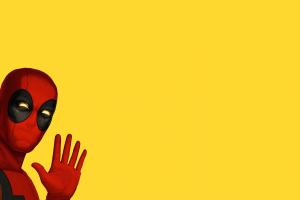 antiheroes simple background deadpool marvel comics yellow background