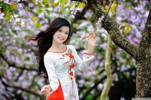 áo dài vietnamese asian women