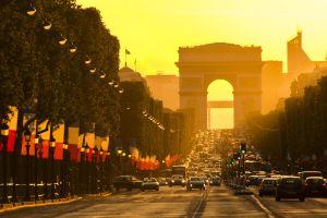 arc de triomphe street urban champs-élysées architecture building paris city cityscape photography