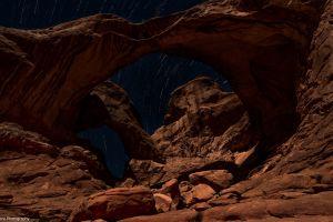 arches national park rock landscape nature