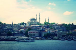 architecture cityscape istanbul sea city building