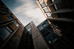 architecture reflection sky window building