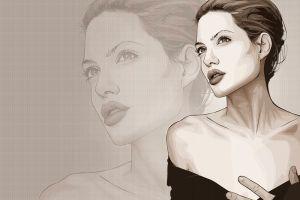 artwork actress angelina jolie