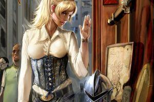 artwork blonde women witchblade