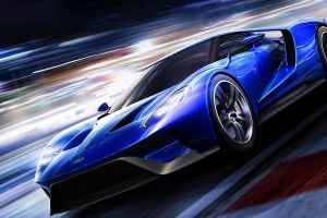 artwork car ford gt blue cars vehicle