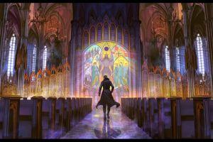 artwork cathedral fantasy art building