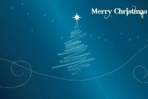 artwork christmas blue background