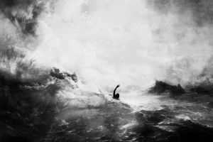 artwork drown sea